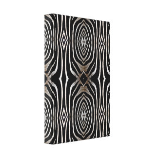 Abstract Zebra Hide Wrapped Canvas Print