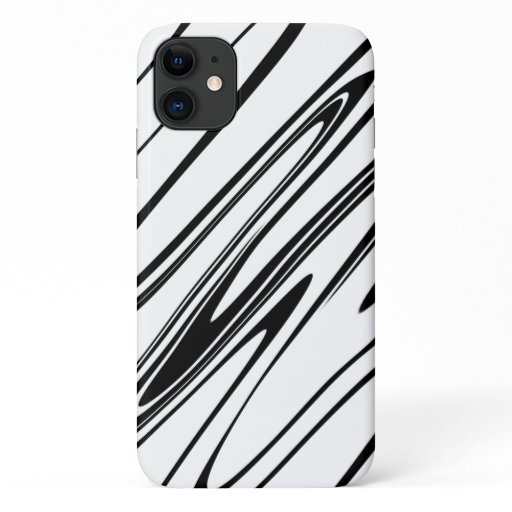 Abstract Zebra Print iPhone 11 Case