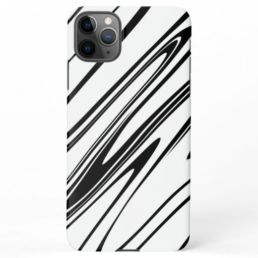 Abstract Zebra Print iPhone 11Pro Max Case