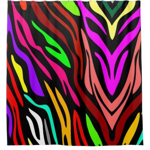 Abstract Zebra Rainbow Cool Pattern Shower Curtain