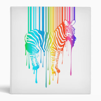 Abstract Zebra With Barcode 3 Ring Binder