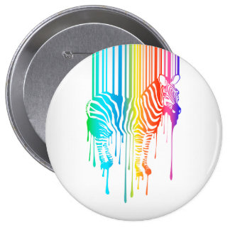 Abstract Zebra With Barcode Button