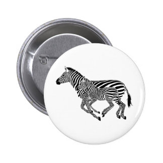 Abstract Zebras Mother and Child Pin