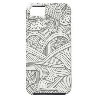 Abstract Zendoodle Black and White Art iPhone Case