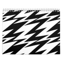 Abstract Zigzag Calendar