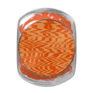 Abstract Zigzag Jelly Belly Candy Jar