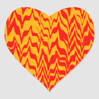 Abstract ZigZag Swirl Heart Sticker
