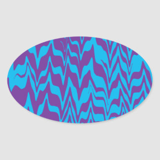 Abstract ZigZag Swirl Oval Sticker
