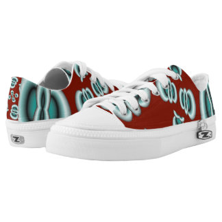 Abstract Zipz Low Top Shoes, Blood Work fractal