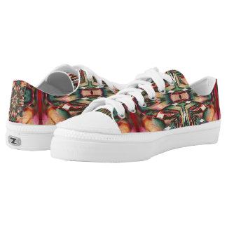 Abstract Zipz Shoes, Spirit Walker, Native Pride Low-Top Sneakers