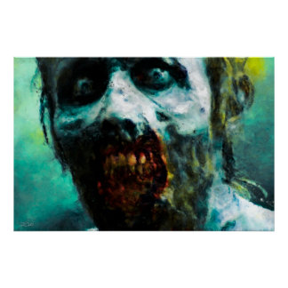 Abstract Zombie Poster/Print Poster