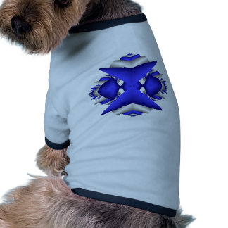Abstracta-Azules A Camisetas De Perrito