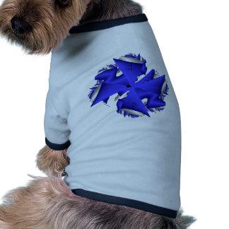Abstracta-Azules B Camiseta De Perrito