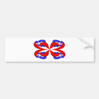 Abstracta-Blue-Red B Bumper Sticker