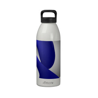 Abstracta-Blues E - Blue Whale Reusable Water Bottle