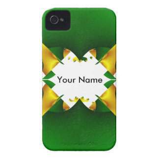Abstracta-Green-Gold A iPhone 4 Cover