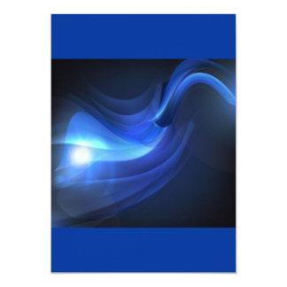 AbstractBlueWavesVectorBackground ROYAL BLUE BLACK Custom Invite