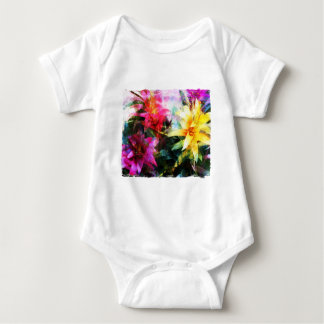 Abstracted Bromeliads Baby Bodysuit