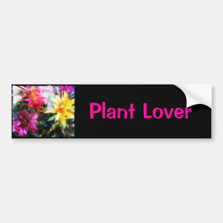 Abstracted Bromeliads Bumper Sticker