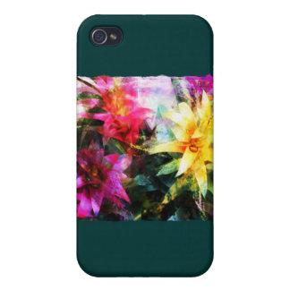 Abstracted Bromeliads Cover For iPhone 4