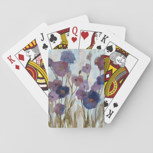 Abstracted Florals In Purple Card Deck