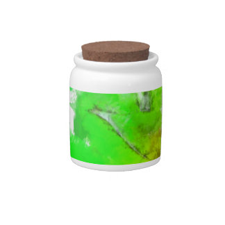 Abstracted Fresh Green Leaves Candy Dish