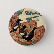 Abstracted Guillemots Button