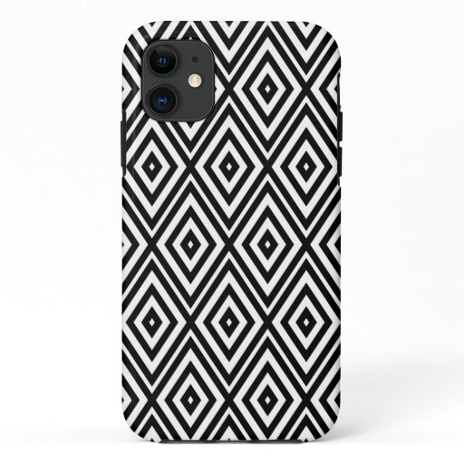 Abstracted In Black And White iPhone 11 Case
