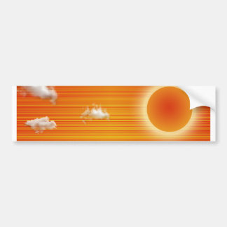 Abstracted South Western US Landscape Bumper Sticker