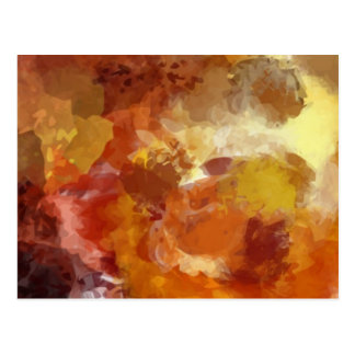 Abstracted Warm Painting Post Card