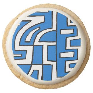 ABSTRACTHORIZ (648).jpg Round Premium Shortbread Cookie