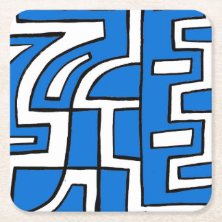 ABSTRACTHORIZ (648).jpg Square Paper Coaster