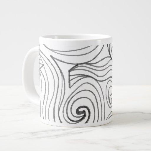 ABSTRACTHORIZ (672).jpg 20 Oz Large Ceramic Coffee Mug