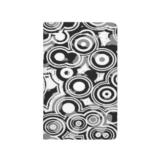 Abstraction Art Black And White Circles Journal