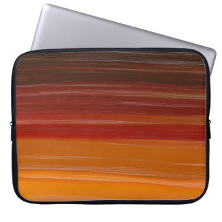 Abstraction Art Brown Wavy Lines Computer Sleeve