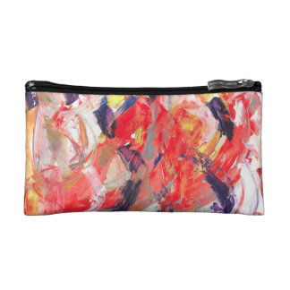 Abstraction Art Colorful Strokes Makeup Bag