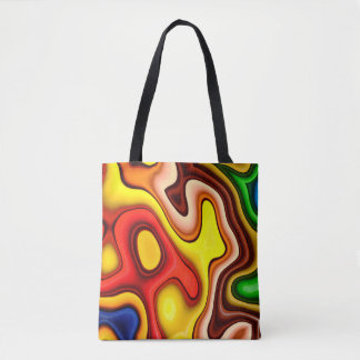 Abstraction Art Contour Pattern Tote Bag
