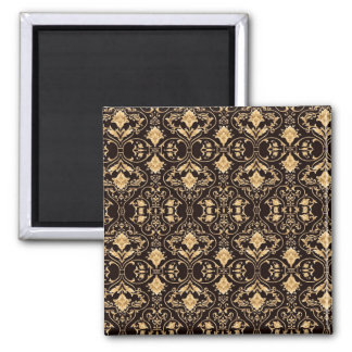 Abstraction Art Damask Pattern Wallpaper Magnet