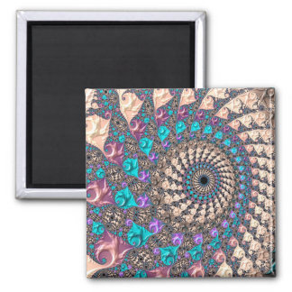 Abstraction Art Lilac And Purple Wheen Magnet
