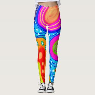 Abstraction Art Multi Colored Contour Leggings