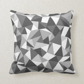 Abstraction Black and White Throw Pillows