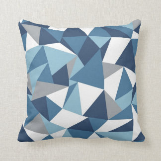 Abstraction Blue Throw Pillow