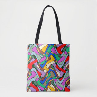 Abstraction Colorful Contour Art Tote Bag