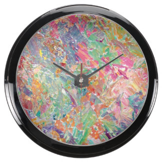 Abstraction - Coral Reef II Fish Tank Clock