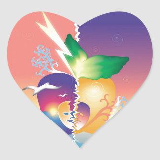 Abstraction Dream Heart Sticker