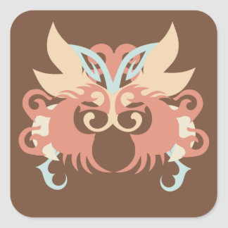 Abstraction Five Tlaloc Square Sticker