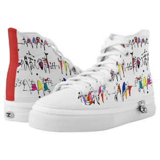 Abstraction from undulating lines High-Top sneakers