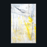 """&#39;Abstraction&#39; Grey and Yellow Art Canvas Print<br><div class=""""desc"""">The image used to create this product is an original abstract art painting by T30 Gallery.</div>"""
