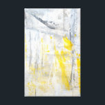 "&#39;Abstraction&#39; Grey and Yellow Art Canvas Print<br><div class=""desc"">The image used to create this product is an original abstract art painting by T30 Gallery.</div>"