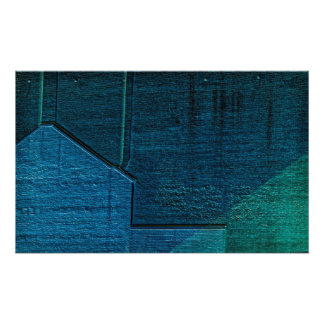 Abstraction in Blue and Green Photo Print